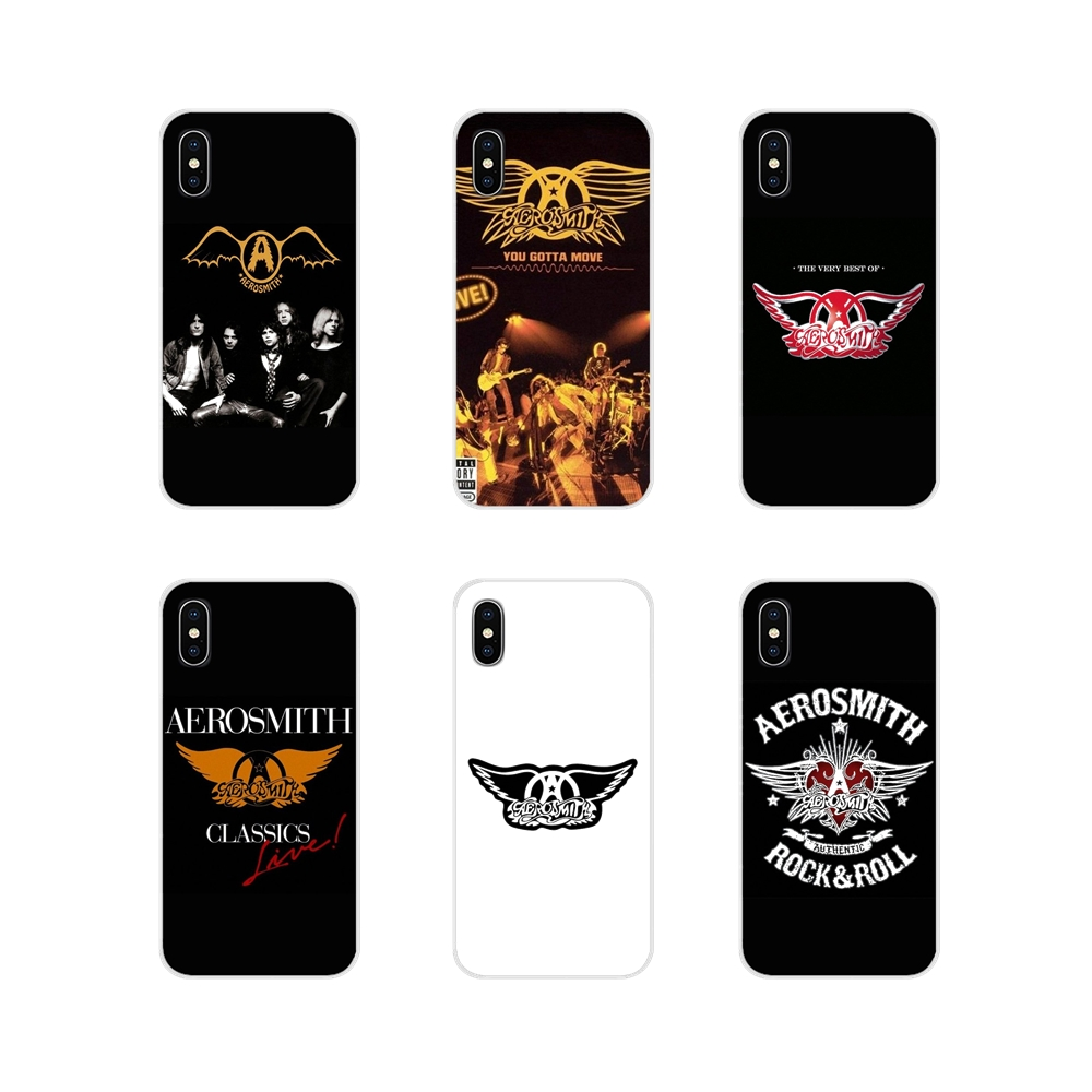 For Apple iPhone X XR XS MAX 4 4S 5 5S 5C SE 6 6S 7 8 Plus ipod touch 5 6 rock band Aerosmith Accessories Phone Cases Covers