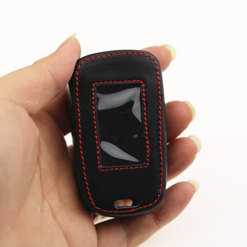 NEW A92 A62 Leather Key Case for Starline A92/A94/V62/A62/A64 Two Way Car Alarm LCD Remote Control Keychain Fob Cover цена