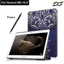 Caso de Cuero de LA PU Para Huawei MediaPad 10 M2 A01W M2-A01W A01L M2-A01L 10.0 Caja de la Tableta Soporte Magnético para Huawei