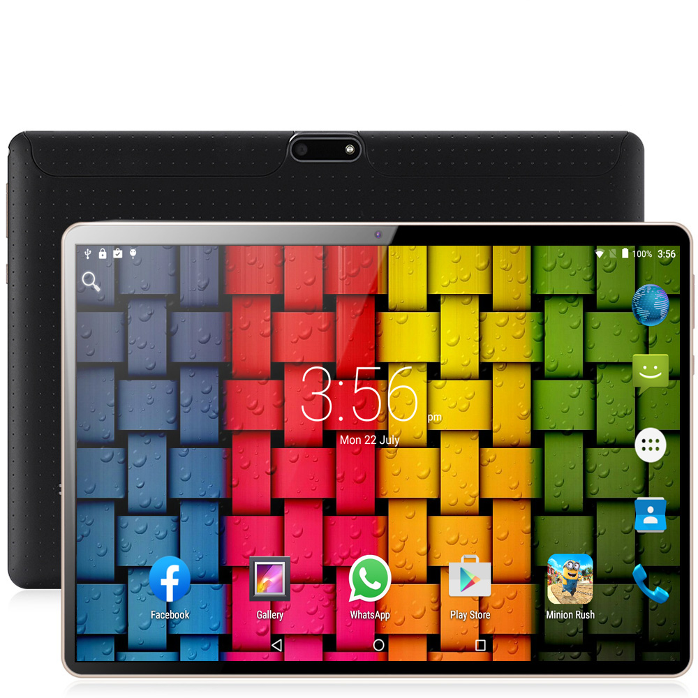 2019 Original 10.1Inch Tablet PC Octa Core Powerful Android 7.0 4GB RAM 64GB ROM IPS Dual SIM Phone Call Tab Phone PC Tablets