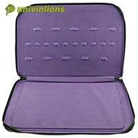 Univinlions 20 pcs Barber case hairdressing kit bags leather holder barber tool case hairdressing scissor holder leather