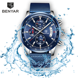 Image 2 - BENYAR 2019 New Mens Watches Top Brand Luxury Watch Men Quartz Watches Chronograph Military Watch Clock Man Relogio Masculino