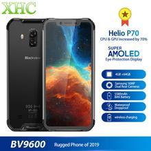 ต้นฉบับ Blackview BV9600 Android โทรศัพท์มือถือ 6.21 นิ้ว MT6771T OCTA Core 4GB 64GB ไร้สายชาร์จ Dual SIM NFC สมาร์ทโฟน OTG