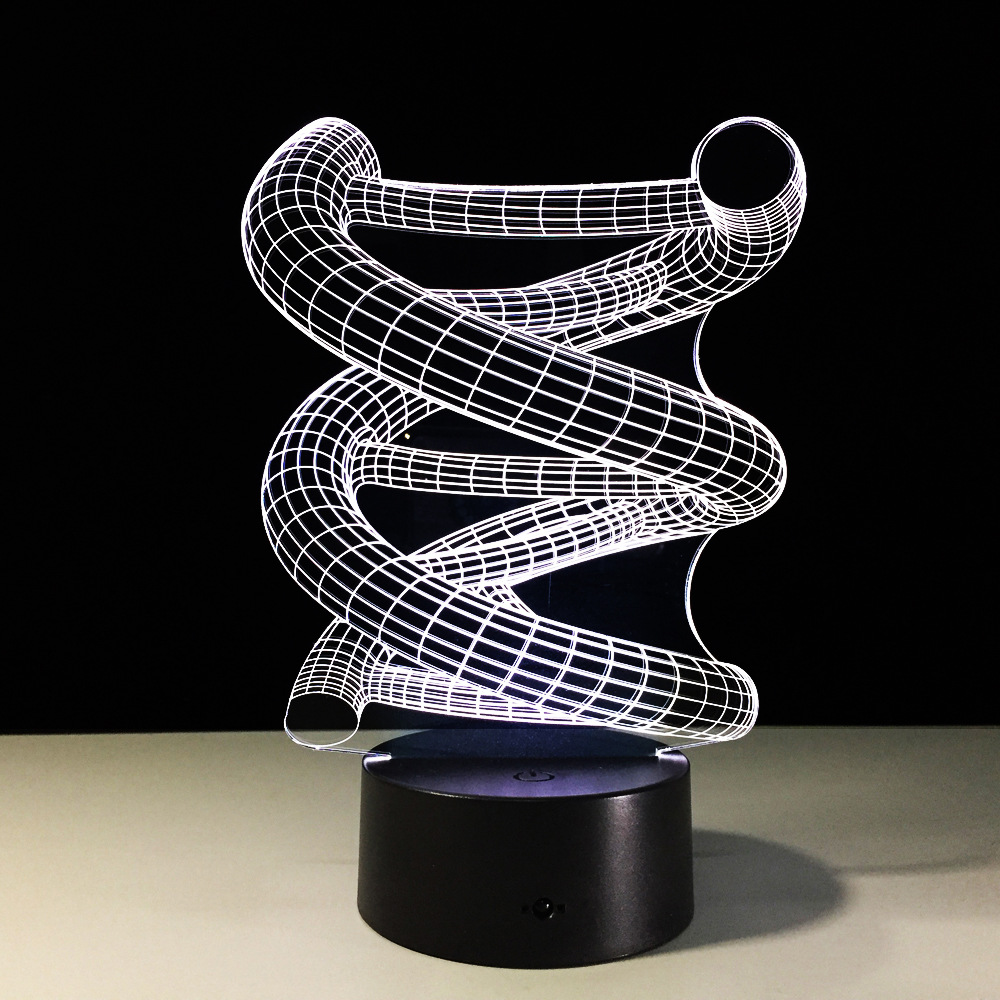 Luzes da Noite 3d abstrato espiral do bulbo Item : 3d Abstract Graphics Night Lamp