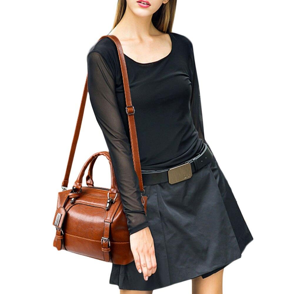 699b2785741b Купить Aelicy большой ёмкость Винтаж четыре ремни сумки на плечо высокое  качество кожа Повседневное сумка Мода поддельные дизайнер 1103 Цена Дешево.