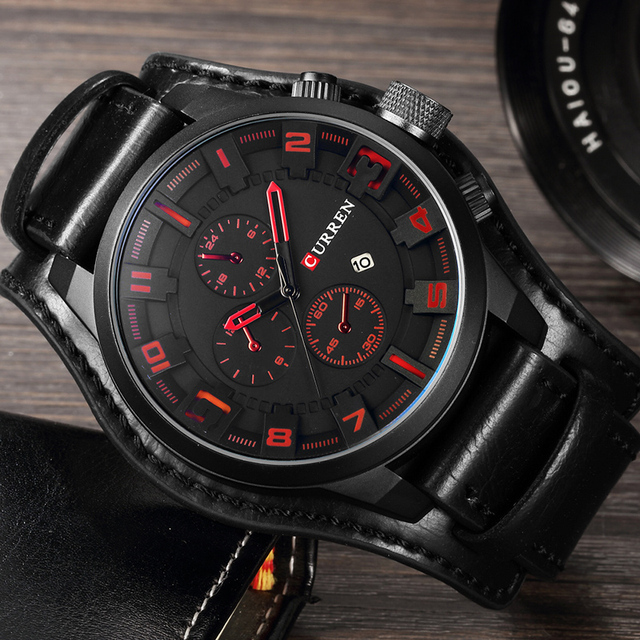 CURREN 2019 New Men Fashion Quartz Watches Men's Army Leather Sports Wrist Watch Military Date Male Clock Relogio Masculino 4