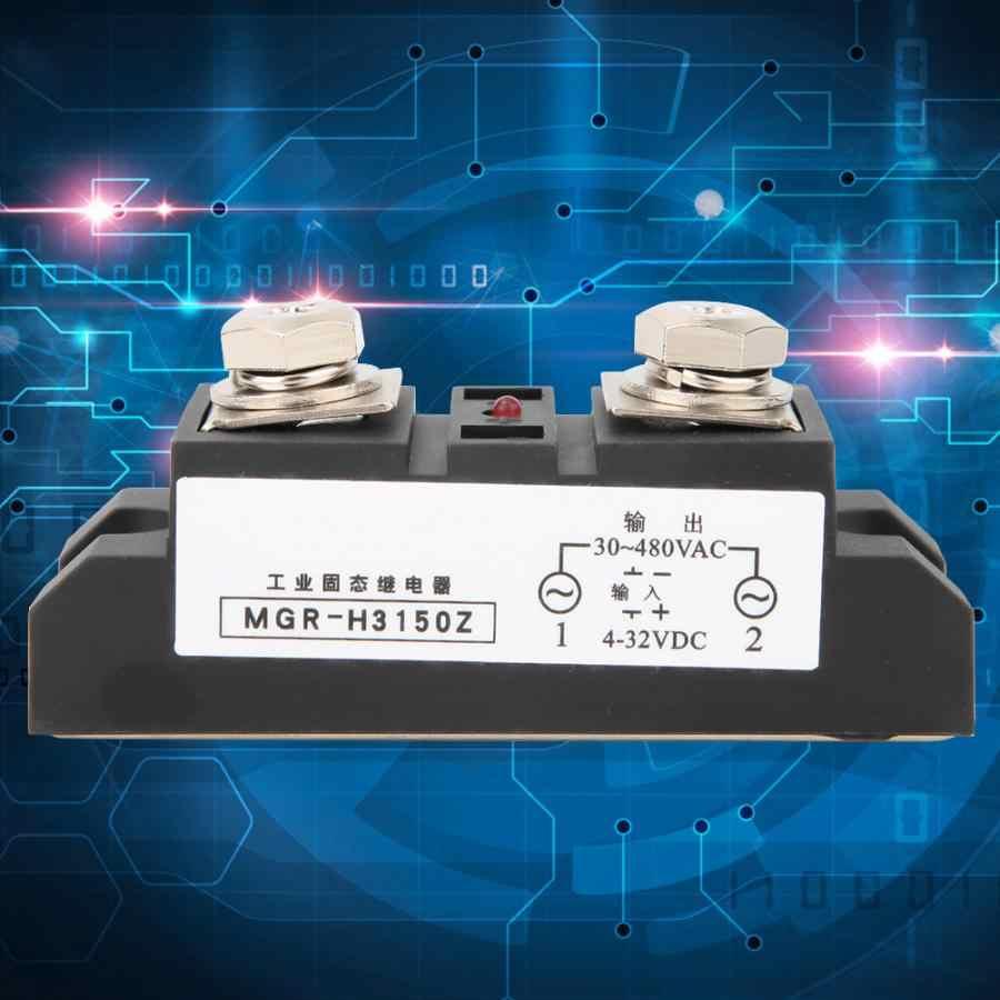 Relais à semi-conducteurs de qualité industrielle 150A DC 4-24 V contrôle AC 30-480 V Contact SSR
