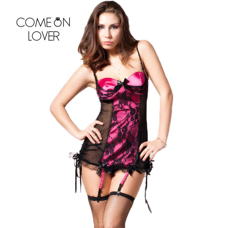 Comeonlover Big Discount Red Plus Size Women Lingerie Dress Sexy Strapless Night Gown Hot Sale Lady Lenceria Sex Women RI7329 1