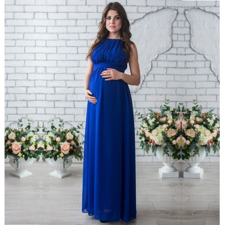 купить Round Neck Split Joint Sleeveless Maternity Clothing Clothes Dress Pregnant Woman Dress Fashion Breast Feeding недорого