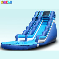 OCYLE Made of Eco Friendly material Inflatable giant water slide with pool for kids outdoor playground