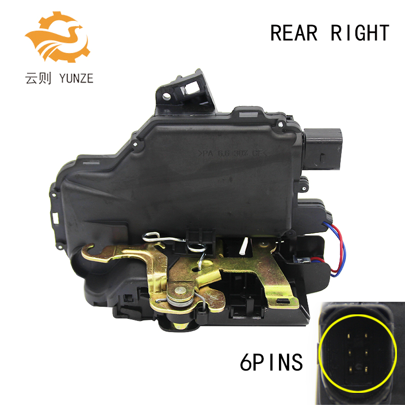 REAR RIGHT SIDE OE 3B4839016A FIT FOR SEAT SKODA PASSAT GOLF 4 IV MK4 BORA LUPO NEW BEETLE DOOR LOCK ACTUATOR CENTRAL MECHANISM