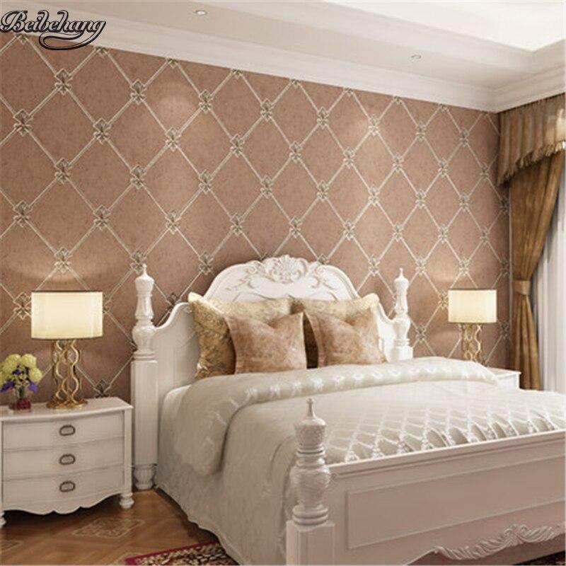 Beibehang europeo di lusso soggiorno non tessuto carta da for Carta parati lusso