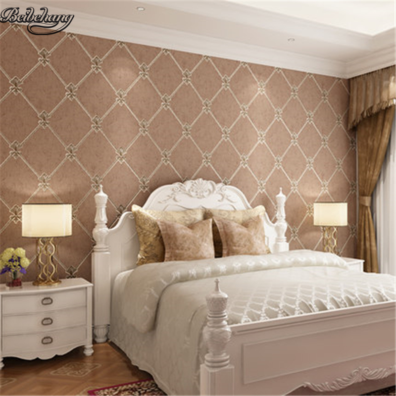beibehang European luxury living room non-woven wallpaper 3D three-dimensional relief bedroom modern minimalist backdrop цена