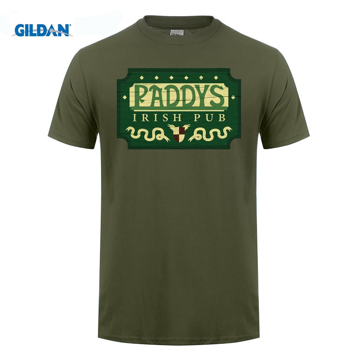 GILDAN cotton O-neck printing fashion T shirt Its Sunny In Philadelphia T Shirt Paddys Irish Pub Sign