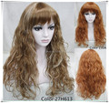 High quality Synthetic hair wig Copper red long curly  hair wigs Color optional  Free shipping