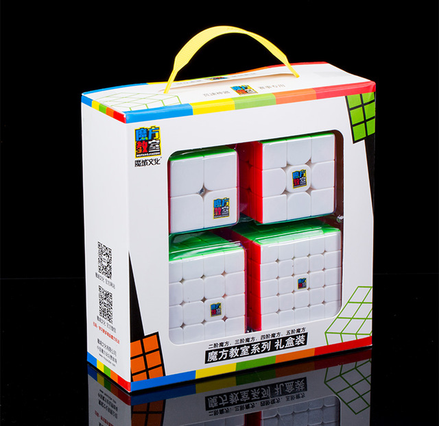 MoYu Mofangjiaoshi 2x2 3x3 4x4 5x5  Speed Cube Gift Box Packing Professional Puzzle Cubing Classroom MF2S  MF3RS MF4S MF5S Cube-in Magic Cubes from Toys & Hobbies