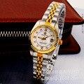 HK Marca Roma REGINALD coroa de Ouro de Luxo genuíno senhora escala Dom relógio de aço Calendário relógios de Pulso