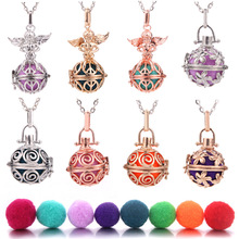 Angel Aromatherapy Necklace Pendant Jewelry Multicolor Open Locket Necklace Essential Oil Diffuser Perfume Scent Aroma Necklaces цены