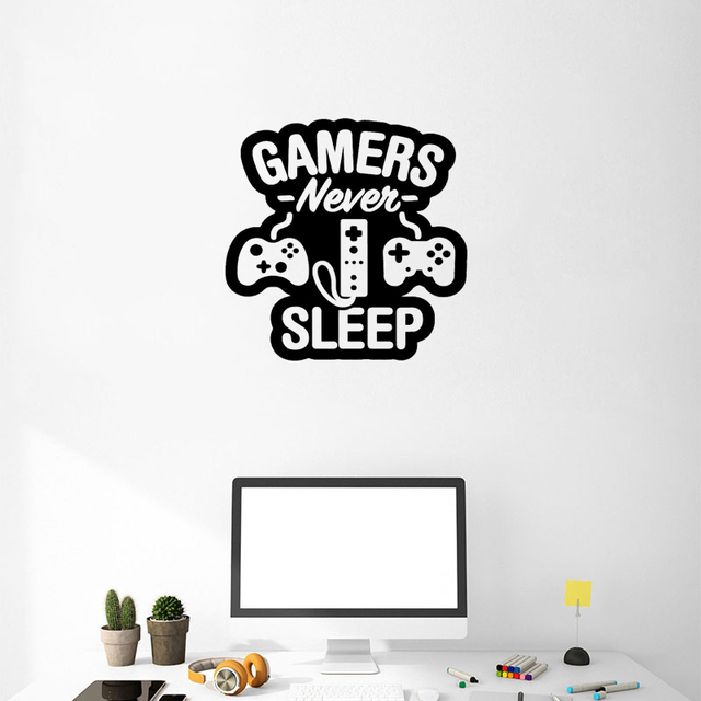 Stizzy Wall Decal Quotes Rs Never Sleep Stickers Playroom Modern Design Art Poster Removable Video Kids Room Decor A465