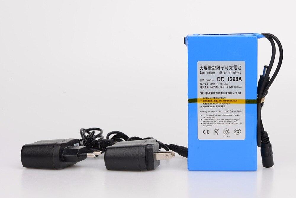 MasterFire Durable DC 12 V 9800 MAH grande capacité Super puissant Rechargeable batterie Lithium-ion pour caméra DC 1298A