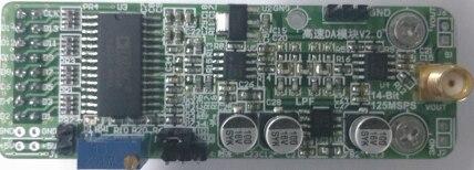 High Speed DA AD9764 Module 14 Bit Parallel DA 125M Waveform Generation FPGA Development Board MatchingHigh Speed DA AD9764 Module 14 Bit Parallel DA 125M Waveform Generation FPGA Development Board Matching
