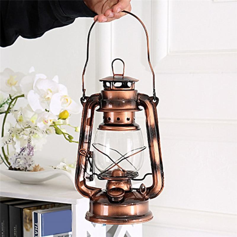 Retro Style Portable Lighting Kerosene Lamp  Outdoor Camping Tent Lamp Metal Camping Light Household Emergency Lamp