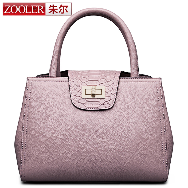 ZOOLER 2017 New Women Handbag Serpentine Genuine Leather Handbags ...