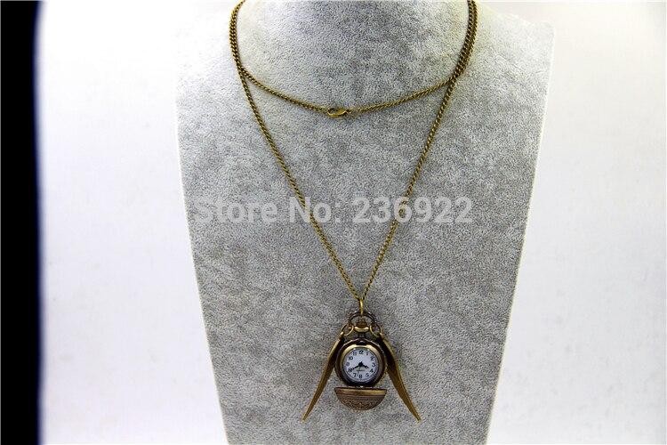 ZRM модные ювелирные изделия Винтаж Шарм Поттер снитч крылья кварцевые карманные часы ожерелье для мужчин и женщин