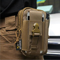 Multifuncti Trekking Molle Paquete de La Cintura Bolsa de Movimiento Ocasional Monedero de La Bolsa Del Teléfono caso iphone 6 plus samsung note 2 3 4 cordura tela