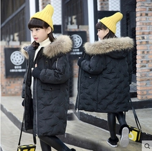 Russia Winter Girls Snows Coat Kids Down Jacket Large Fur Collar Children Boys Parkas Hooded Outerwear Snowsuit TZ208
