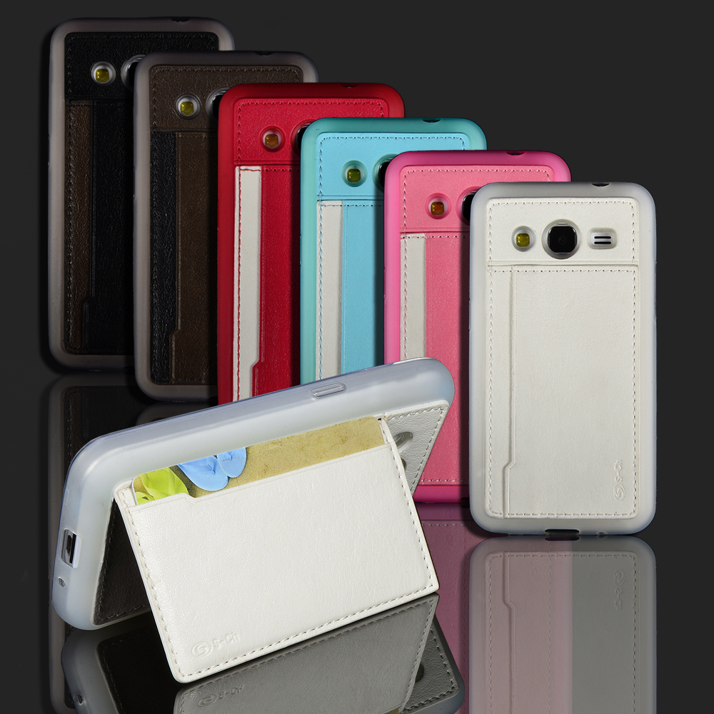For <font><b>Samsung</b></font> Galaxy Core 2 II Dual SIM <font><b>G355H</b></font> <font><b>SM</b></font>-<font><b>G355H</b></font> Phone <font><b>Case</b></font> High Quality Stand Cover With Card Holder Free shippin image