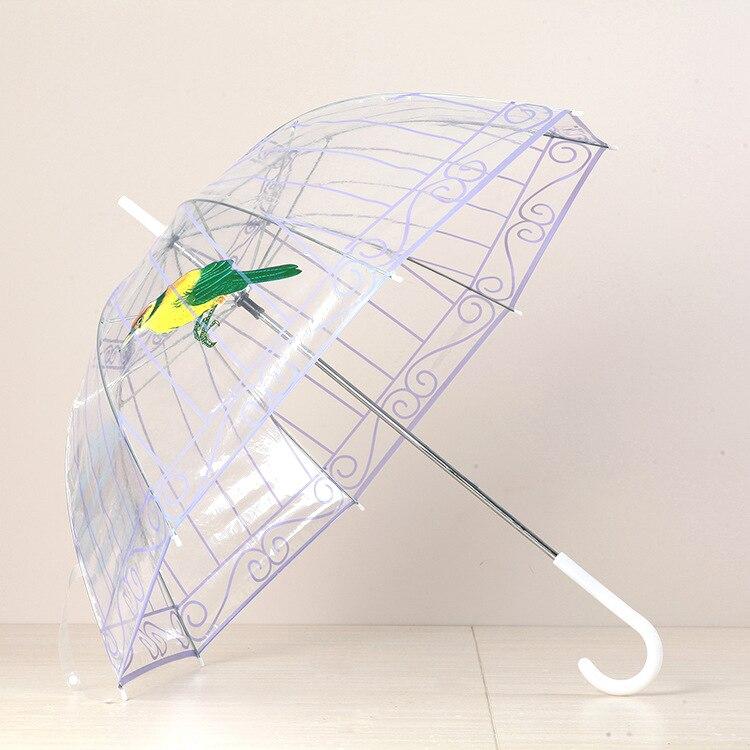 Transparenter Kunststoff Klar PVC Regenschirm Regen kreativer - Haushaltswaren - Foto 2