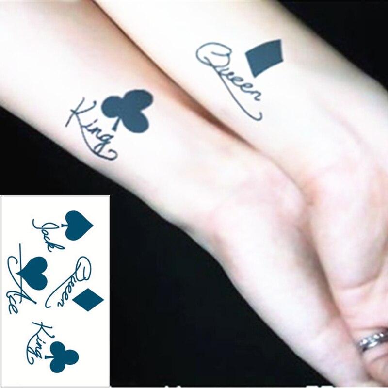 Shnapign 25 Styl Mini Tymczasowy Tatuaż Body Art Pik K