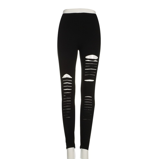 Women's Stylish Stretchy Microfiber Ripped Leggings