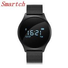 Smartch M7 Смарт часы браслет Мульти Язык приложение здоровья трекер Шагомер сердечного ритма Мониторы для Бизнес Спорт