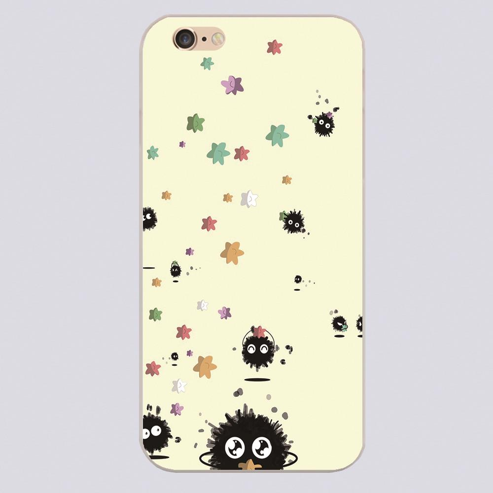Spirited Away Soot Monsterr Design phone cover cases for iphone 4 5 5c 5s 6 6s 6plus Hard transparent Shell