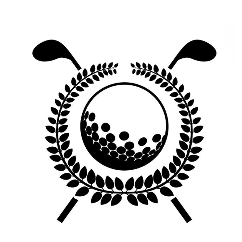 13.4CM*13.3CM Fashion Fitness Sports Golf Black/Silver Decor Vinyl Car Sticker S9-0902