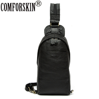 COMFORSKIN Bolsa Masculina 2018 New Arrivals Genuine Leather Chest Bags Brand Designer Top Fashion Men S