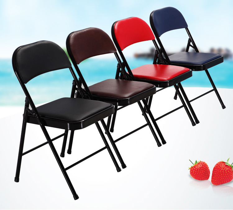 living room chair PU seat black red color bedroom study computer stool retail wholesale free shipping living room chair pu seat black red
