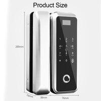 Eseye Glass Door Lock Wood Doors Fingerprint Door Lock For Home Office Anti theft Security Remote Control Smart Electric Lock