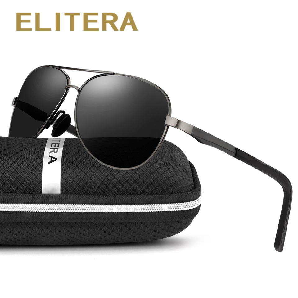 ELITERA Magnesio Alluminio Marca Polarizzati Occhiali Da Sole Uomo Nuovo Disegno di Guida di Pesca Occhiali Da Sole Eyewear Oculos Gafas De Così E210