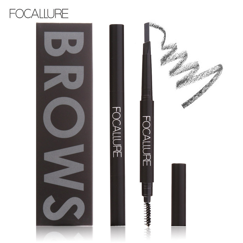 Focallure Makeup 3 Color Automatic Matte Eyebrow Pencil Waterproof With Brush Tool Long-lasting Cosmetics Eye Brow Pen