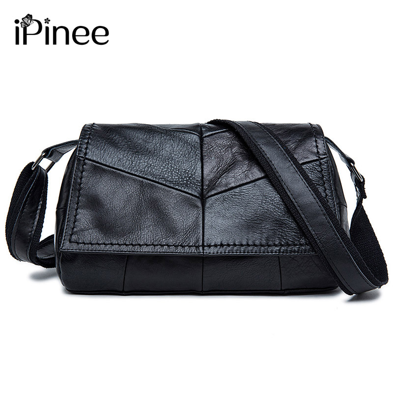 iPinee Genuine leather bag ladies 2017 Cowhide Patchwork  Women messenger bags handbags women famous brand designer high quality doodoo women bag genuine leather famous brand cowhide women messenger bags bolsa femininas luxury brand ladies hand bags t437