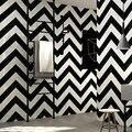 Черно-белая полосатая настенная бумага в рулонах  Современные Простые Геометрические линии  дизайн ПВХ  водонепроницаемые  для ресторана  г...
