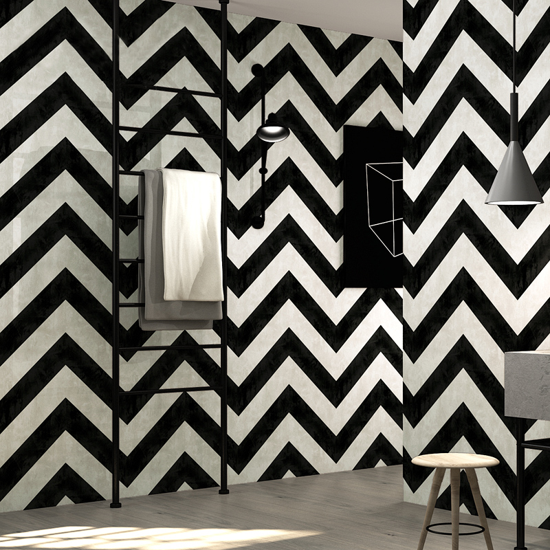 Black White Stripe Wall Paper Rolls Modern Simple Geometry Lines Designs PVC Waterproof Restaurant Living Room Striped Wallpaper