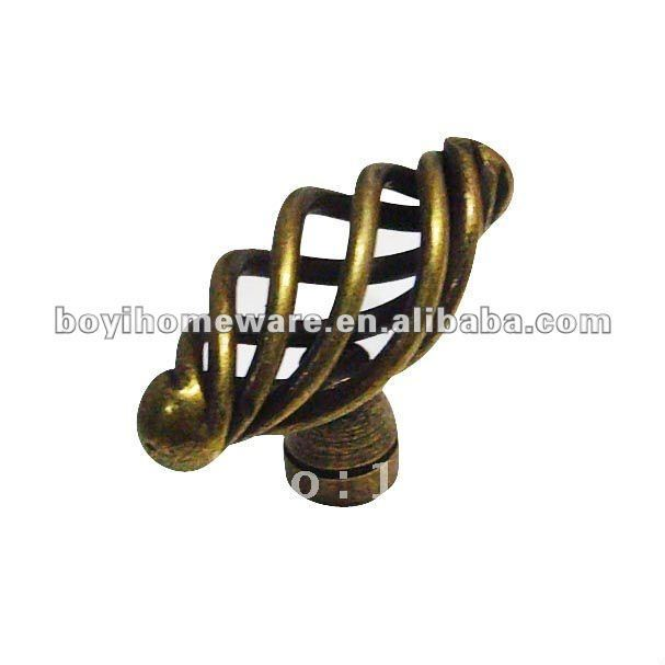 Hot sell black iron-nickel knob handle wholesale bircage knob unique knobs wholesale and retail shipping discount 50pcs/lot T50