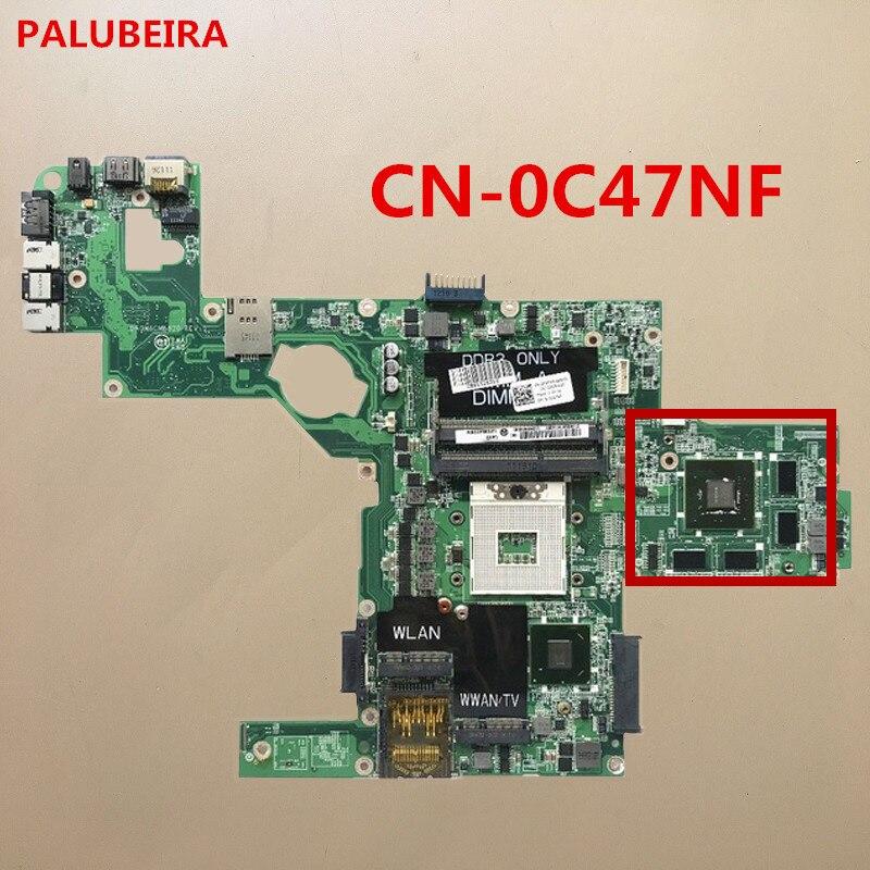 PALUBEIRA CN-0C47NF 0C47NF C47NF материнская плата для ноутбука Dell L502X материнская плата DAGM6CMB8D0 HM67 DDR3 с 8 чип VGA 100% тест