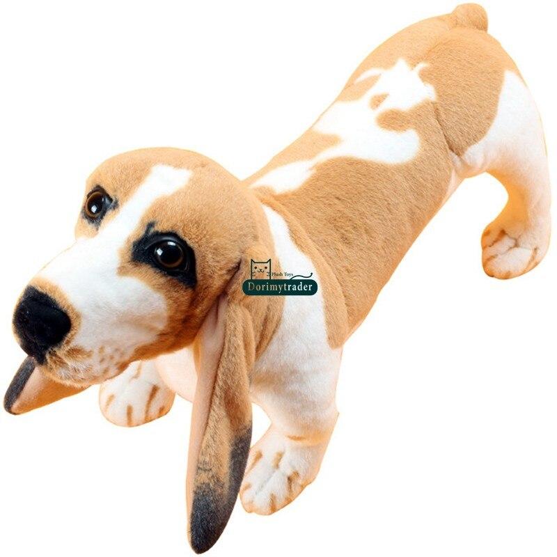 Dorimytrader Giant Soft Simulation Animal Basset Dog Plush Toy