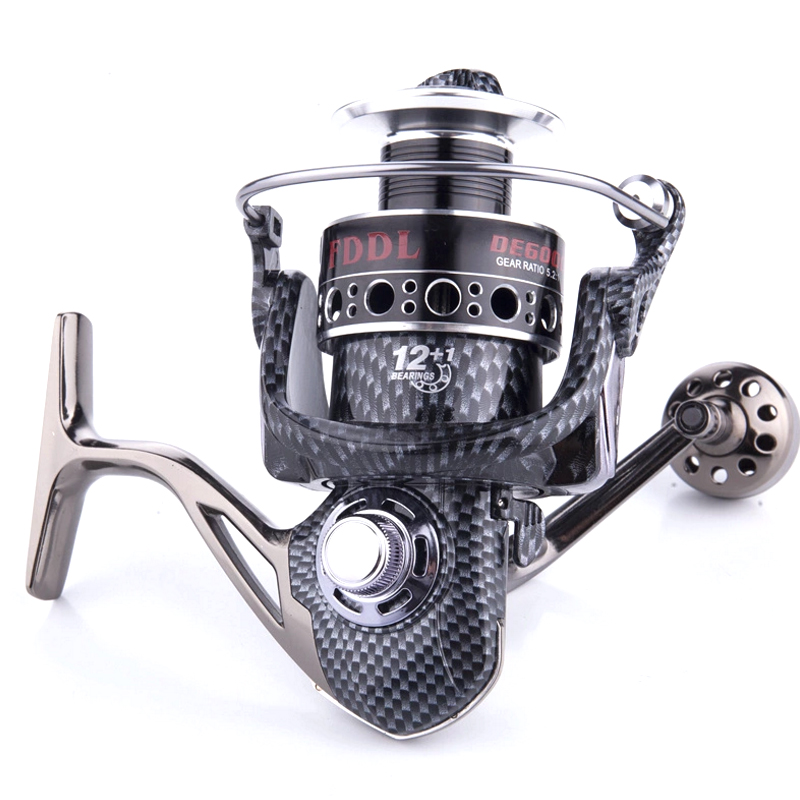 2000 7000 Series Full Metal Fishing Reel Spinning Wheel 5.2:1 Gear Ratio 13BB Double Bearing Carp Feeder Spining Reels Carrete-in Fishing Reels from Sports & Entertainment    1