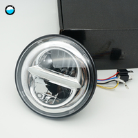 Newest 5.75 inch LED Headlight for Dyna Sporter Street Bob FXDB 5 3/4inch Headlamp with White DRL.